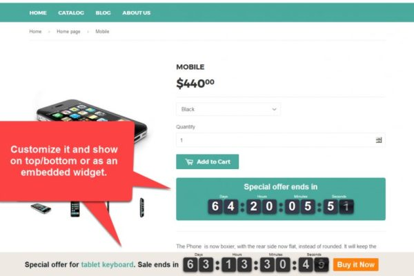 Shopify Sales Countdown Timer Bar App