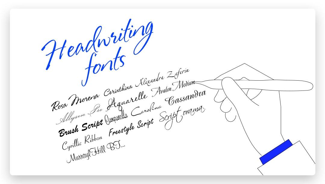 Handwriting (Script) Fonts