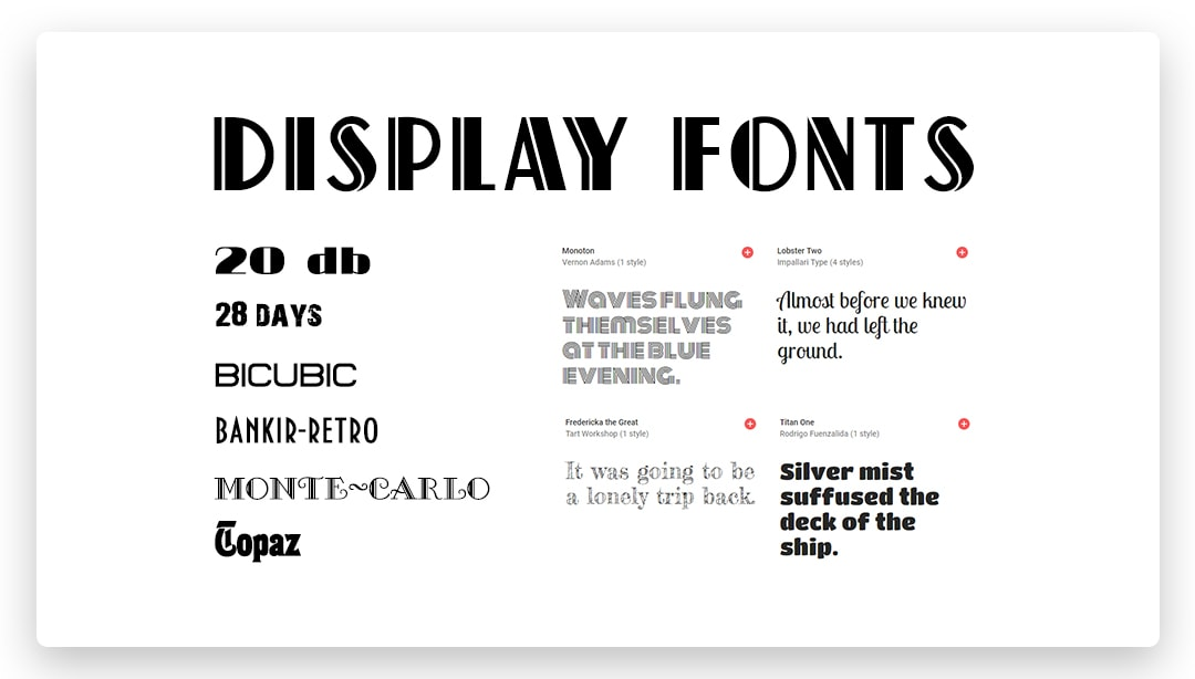Display and Decorative Fonts