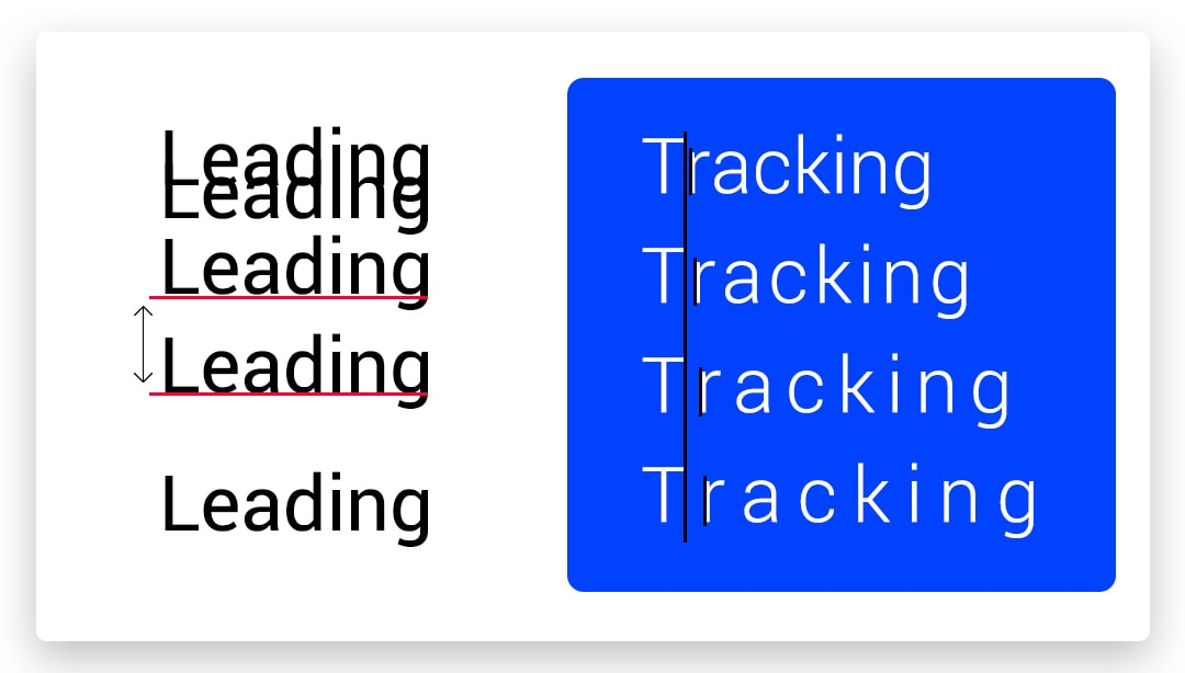 Set the Leading and Tracking