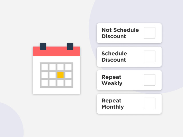 Scheduling product discounts and sales
