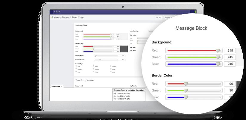 Quantity Breaks design settings