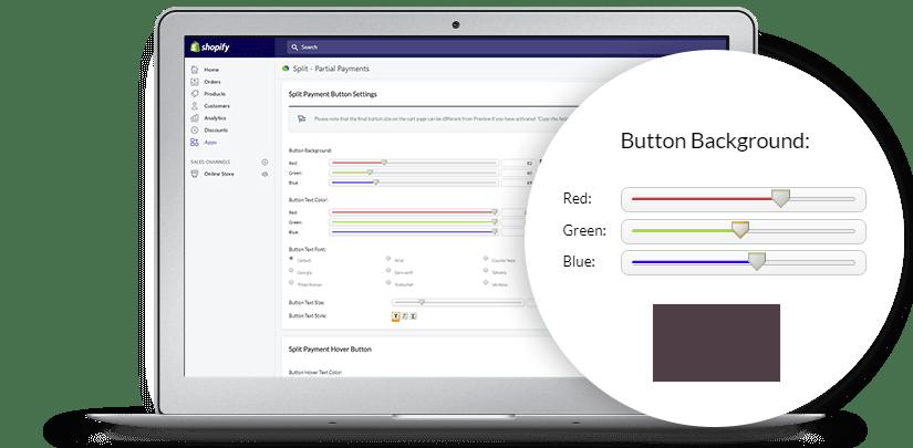 The Split ‑ Partial Payments app settings