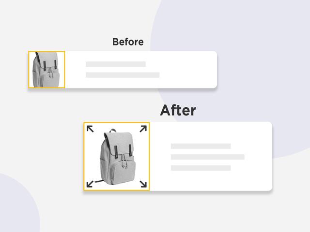 Squaring & resizing products images