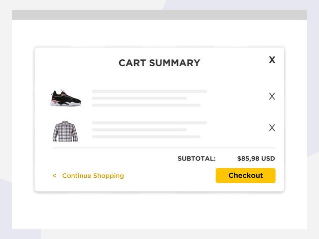 Cart summary