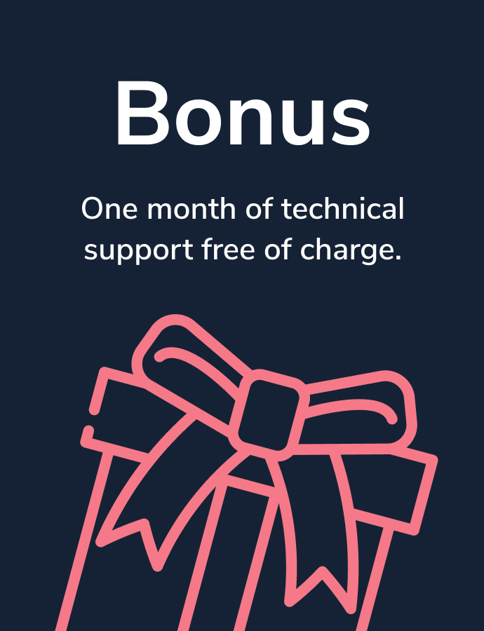 One month of technical support for free