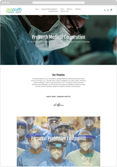 ProNorth Medical Corporation case - before done