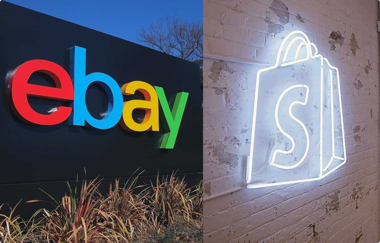 eBay and Shopify logos and they look really great together!