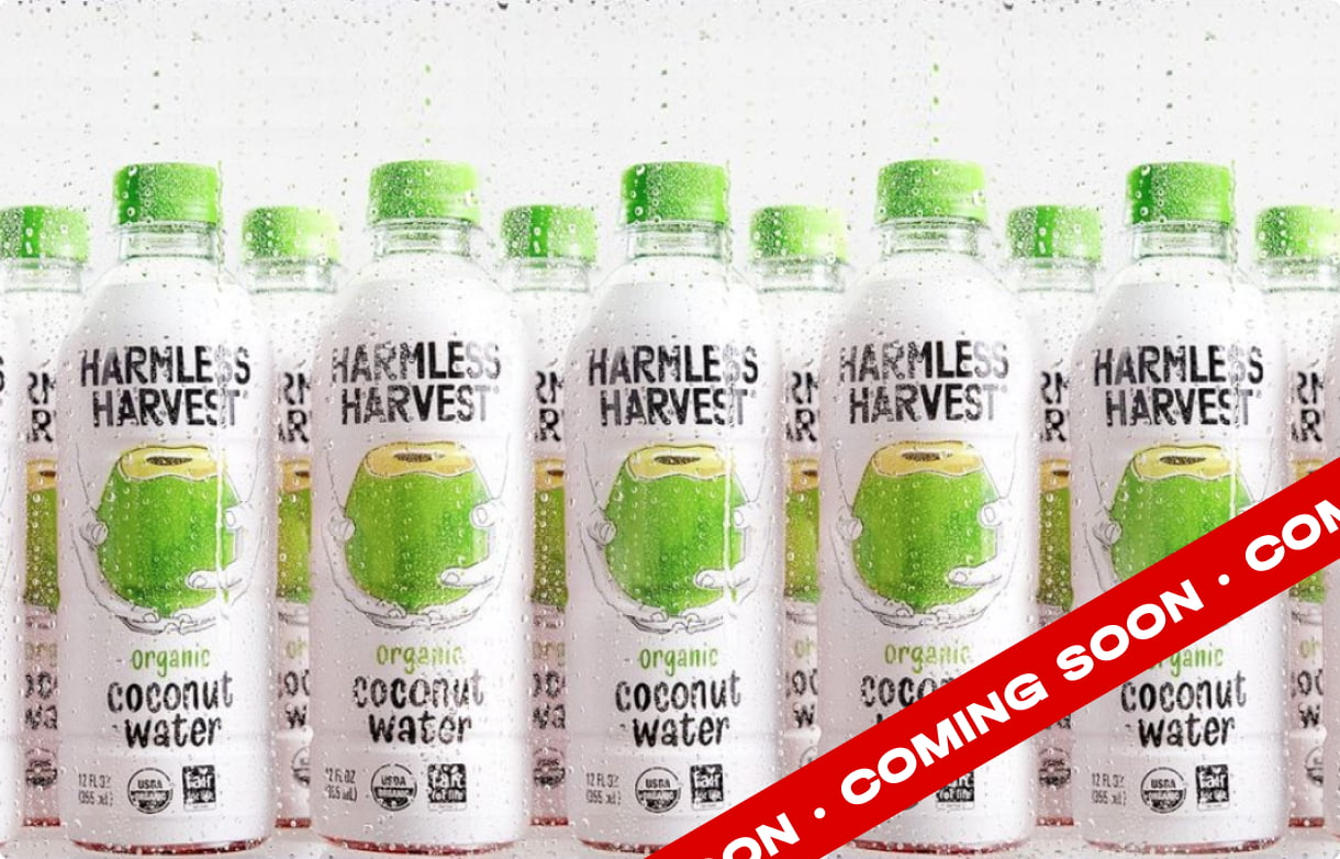 Harmless Harvest case study is coming soon, fresh like organic coconut water!
